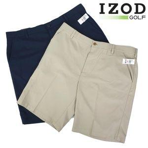 2 Pairs IZOD Golf Short Khaki & Navy Blue Men's 40